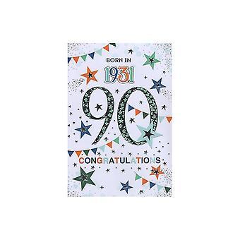 ICG Ltd 2021 Male 90 Year You Were Born Birthday Card