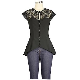 Chic Star Lace Top In Black