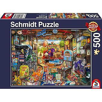 Schmidt Jigsaw Puzzle Garage Car Boot Sale 500 pieces
