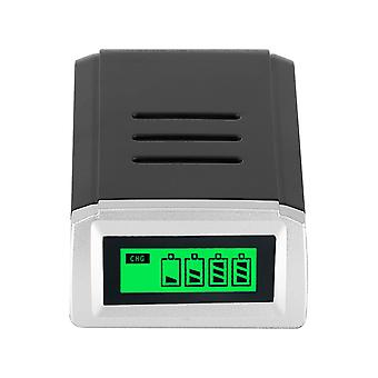 Lcd 4-slots Smart Battery Charger For Rechargeable Batteries ( Plug)