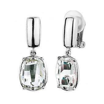 Traveller - Drop Clip Earring - Swarovski Crystals - Platinum Plated - 157462 - 954
