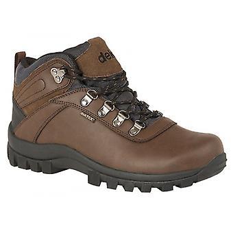 DEK Derwent Mens Suede Ankle Boots Brown