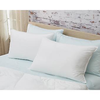 Set of 2 Lux Sateen Down Alternative Queen Size Firm Pillows