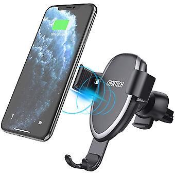 Bezdrôtová nabíjačka do rýchleho auta, 10W / 7,5 W Indukčná nabíjačka pre iPhone 11 Pro Max / 11 Pro / 11 / XS / XS Max / XR / X / 8/8 +, S20 S10 + Poznámka 10 S9 S9 + S8 S8 + Poznámka 9 8, Huawei Mate 30 Pro a 5W LG V30 +(Čierna)