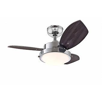 """Ventilador de techo Wengue 76cm / 30"""" con luz"""