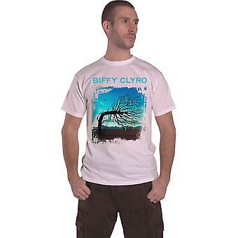 Biffy Clyro Opposites Ahdistunut albumi Kansi Official Mens Uusi Valkoinen T-paita