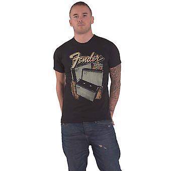 Fender T Shirt Twin Reverb Speaker Logo new Official Mens Black