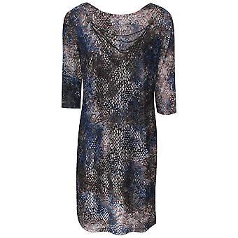 Frank Lyman Low V Back Long Sleeve Blue Dress