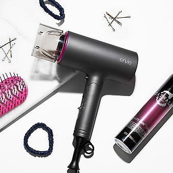 Secador de pelo Envie con 3 ajustes de calor y un mango de viaje plegable ligero, 1500W