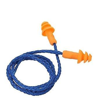 1pcs/10pcs zachte siliconen corded oorbeschermer geluiddichte oorkappen