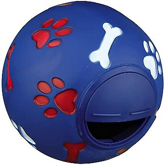 Blue dog chew toy food dispenser leakage food rubber play ball chew training pet treat feeder cai790