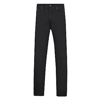 Z Zegna Black Stretch Cotton Luxe Twill 5-Pocket Denim Jeans