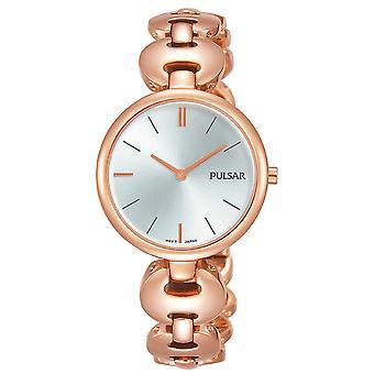 Pulsar PM2268X1 Damas Vestido Oro Rosa Gris Dial 50M Reloj