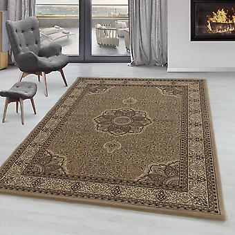 Living room carpet MIRA short pile Orient carpet classic design ornaments