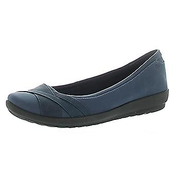 Easy Spirit Womens Acasia 3 Faux Leather Slip On Ballet Flats