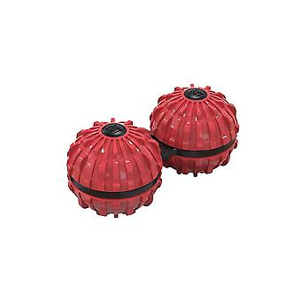 Red 7.2*3.6cm two in one massage spinning top homi4183