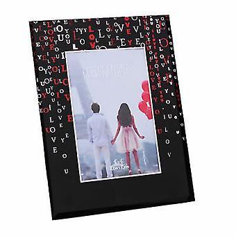 "4"" x 6"" - True Valentine Glass Photo Frame - LOVE"
