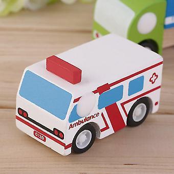Hot Children Car Pedagogiska Leksaker Flermönster Mini Träfordon Buss