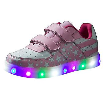 Boys Girls Breathable Led Light Up Shoes Flashing Colorful Sneakers For Kids