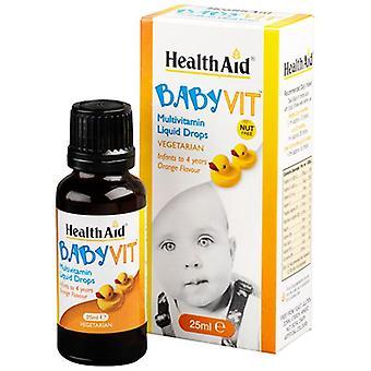 HealthAid BabyVit pudottaa oranssin maun 25ml (801460)