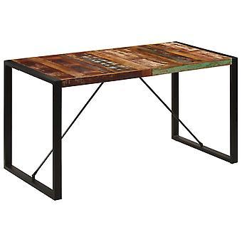 """שולחן אוכל vidaXL 140x70x75 ס""""מ עץ ס""""מ ממוחזר מוצק"""