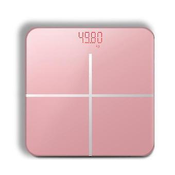 バスルームボディスケール液晶USB充電(ピンク)