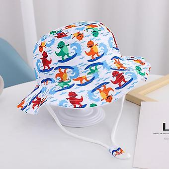 Baby bucket hat uv protection boys cap children panama outdoor beach girls sun hat cartoon infant fisherman cap