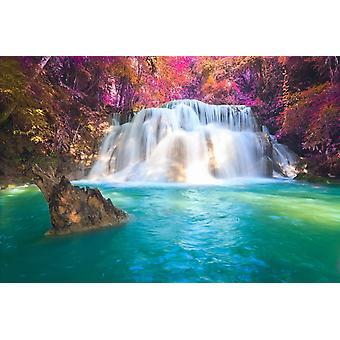 Cachoeiras mural de papel de parede em Kanchanaburi, Tailândia
