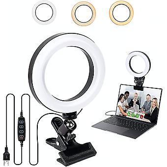 Luz de anillo de videoconferencia
