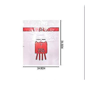 2pcs engangs lagring rengjøringsveske for i bilen klebrig søt tegneserie bil (rød)