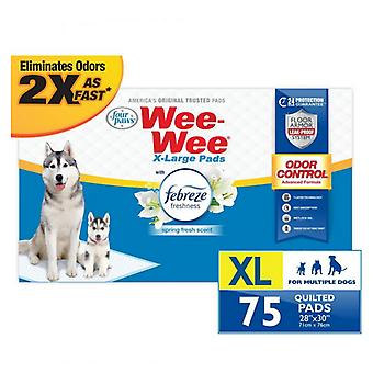 Four Paws Wee Wee Odor Control Pads with Febreze Freshness X-Large - 75 count