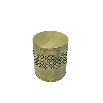 H-basics Grinder - Kross för tobak, örter, kryddor med pollenskrapa av rostfritt stål i roséguld - Torra örter, kök, krossslipning