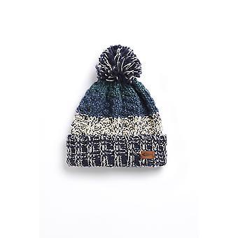 Hutchins Eco Block Stripe Hat Washed Teal