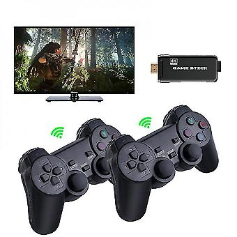 Video game consoles 4k game stick 64gb 10000 ps1 n64 retro video game console dual wireless controller