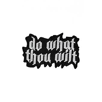 Extreme Largeness Do What Thou Wilt Iron-On Patch