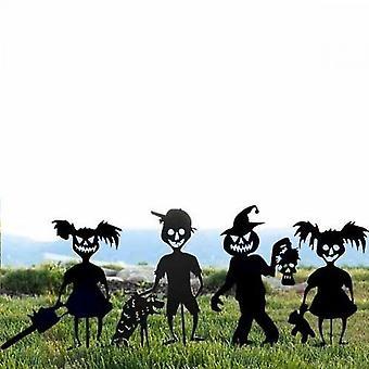 Halloween takorauta aave zombi tyttö metalli käsityöt siluetti 4 kappaletta