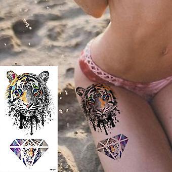 Imperméable à l'eau Temporary Tattoo Sticker 3d Lace Rose Flower Tattoos Line Lotus Body Art Arm Fake Sleeve Tatoo Femmes Hommes