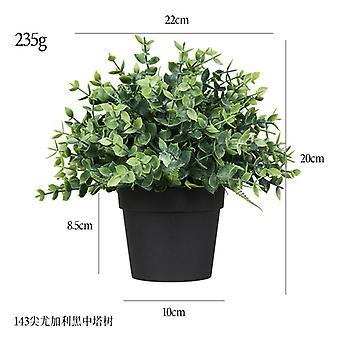 الاصطناعي بوعاء النبات Heizhongta شجرة بلوري البلاستيك