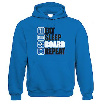 Essen Sleep Board wiederholen Snowboard Hoodie - Geschenk für ihn Papa Geburtstag