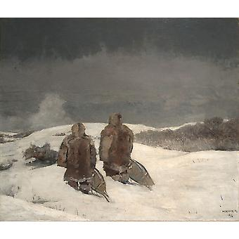 Winslow Homer - Below Zero Poster Print Giclee