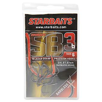 New Starbaits Sb3 Hook No. 6 Fishing Gear  Outdoors Black