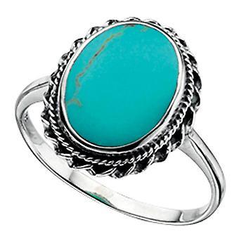 925 серебряное кольцо бирюзовый