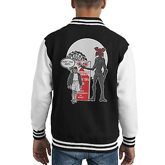 Stranger Ride Themepark Things Kid's Varsity Ceket