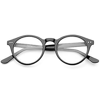 Retro Keyhole Nose Bridge duidelijk Lens de P3 ronde bril 46mm
