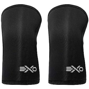 ExoSleeve 7mm Neoprene Compression Fit Knee Sleeves Supports - Black