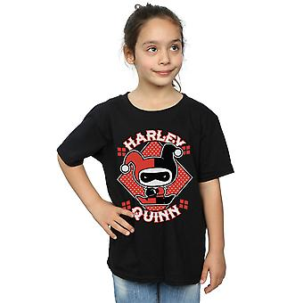 DC Comics Girls Chibi Harley Quinn Badge T-Shirt