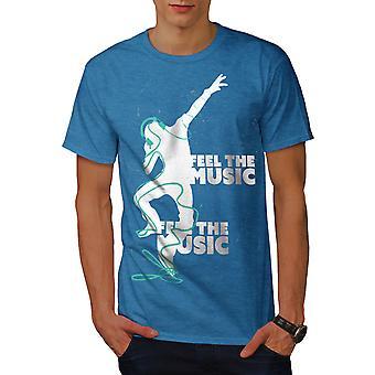 Club Dj laulu tanssi miesten Royal BlueT-paita | Wellcoda