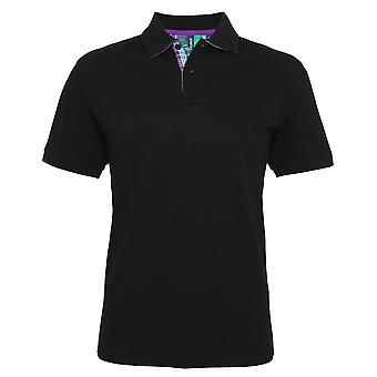 Asquith & Fox Mens Check Trim Polo Shirt