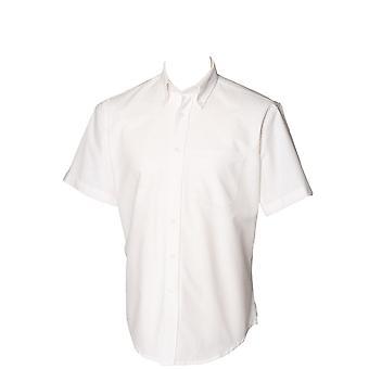 Henbury hombres manga corta Oxford clásica camisa Formal de trabajo
