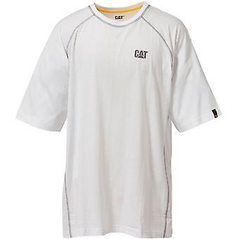 Caterpillar Mens desempenho T camisa branca